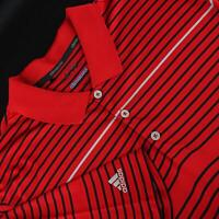 Men Adidas Golf Climacool Red Perforated Golf Polo Shirt Size XL Athletic Casual