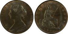 uk great britain victoria 1861 half penny lcv on the rock pcgs ms65 gem bu unc