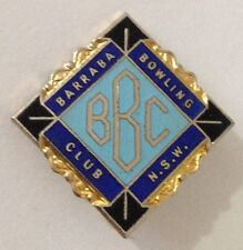 Barraba NSW Bowling Club Badge Pin Vintage Lawn Bowls (L34)