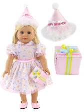 "Birthday Party Dress 3pc Set Fits 18"" American Girl  Dolls"