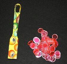 Bingo Magnetic Wand and Chips DESIGNER Pick up Set Lemon Lime