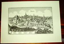Bautzen alte Ansicht Merian Druck Stich Städteansicht