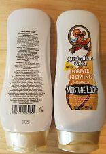 Australian Gold Glowing Shimmer Moisture Lock Tanning Lotion Moisturizer 8 Oz