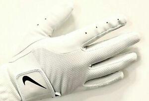 NEW Nike Women's S/M/L RIGHT Handed GOLF GLOVE  Pearl White Dura Feel *US SELLER
