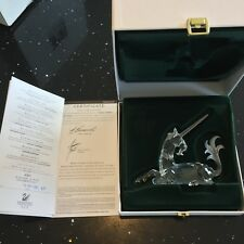 Swarovski Crystal 1996 Annual Edition Unicorn 191727 SIGNED by Designer MIB Cert
