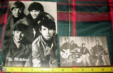 1960S *THE MONKEES* FAN CLUB POST CARD & BILLBOARD POST CARD LOT (2) FREE S&H M