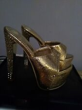 GOLD Stripper Shoes Sz.36/6