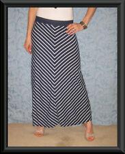 Machine Washable Striped Regular Size Maxi Skirts for Women
