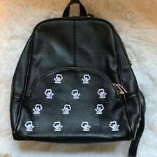 Scarleton Chic Casual Backpack With Flower Embroidery H160801  Black