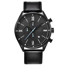 Infinity CS 04 Black Men's Casual Chronograph Watch- Black Leather Strap
