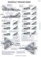 Berna Decals 1/48 DASSAULT MIRAGE 2000D French Jet Fighter