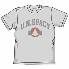 Super Dimension Fortress Macross U.N.Spacy Gray Cotton T-shirt L Anime Cospa Art