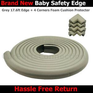 JANGO Baby Safety Edge Corner 17.6ft Edge+4 Corners Foam Cushion Protector Grey