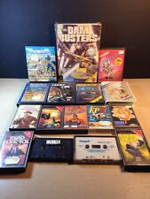 Commodore 64 Cassette Lot HERO Space Invasion Bruce Lee 16 CBM Lot Valhalla FP2