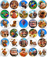 30 x Pixar's UP Party Edible Rice Wafer Paper Cupcake Toppers