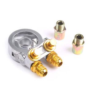 AN10 Thread Oil Filter Cooler Sandwich Plate Adapter 3/4 and M20*1.5 For Honda