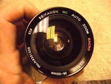Vintage 1970s era 28-100mmSeikanon MC AUTO ZOOM MACRO 1:3.5-5.5 Camera Lens