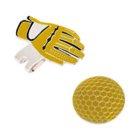 New Funny Glove Golf Hat Clip with Magnetic Ball Marker Golfer Gift Yellow