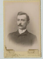 Cabinet Photo - Gettysburg, Pennsylvania - Young Man W/Moustache-Tipton Studio