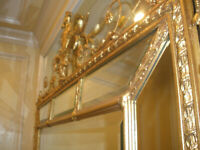 MUST SELL EXCEPTIONAL 19 CENTURY FRENCH ANTIQUE GILTWOOD CARVED CROWN MIRROR