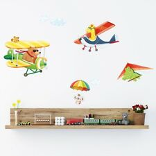 Decowall Animals Airplanes Nursery Kids Removable Wall Stickers Decal DA-1506C