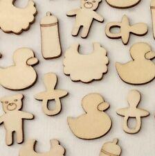15 Wooden Baby Embellishments Scrapbooking EM017 Aussie Seller