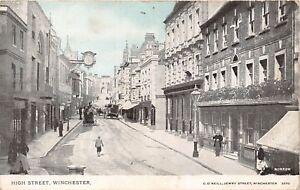 POSTCARD    HANTS   WINCHESTER   High  Street      Circa  1912
