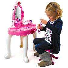 Toy Vanity Mirror Toyrific Glamour Girls Beauty Table Dressing Play Lights Music