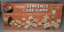 Vintage SCRABBLE SENTENCE CUBE GAME 1983 Selchow & Righter INCOMPLETE Parts Box