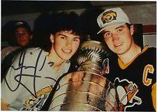 JAROMIR JAGR & MARIO LEMIEUX STANLEY CUP HAND SIGNED PHOTO Pittsburgh Penguins