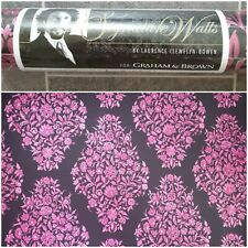 Laurence Llewelyn Bowen Pink Black Heavyweight Wallpaper New Signature Walls