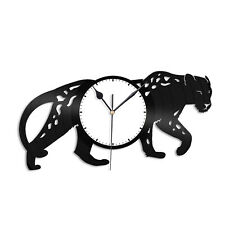 Leopard Vinyl Wall Clock Record Decorative Animals Unique Gift Room Decoration
