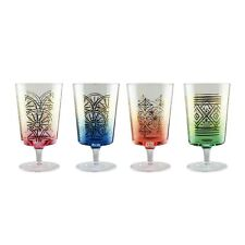 New listing Fifth Avenue Crystal Soiree Set of 4 Lead-free Wine Glasses, 3 x 3 x 8, Multi.