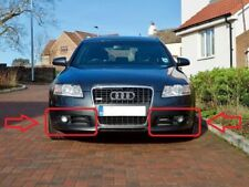 NEW AUDI A6 S6 C6 2005-2008 GENUINE S-LINE BUMPER FOG GRILL COVERS RIGHT + LEFT