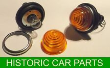 Beehive Style Amber Flasher lights c/w plastic lenses - 21 w 6volt