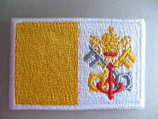 Vatican City Flag Small Iron On/ Sew On Patch Badge Città del Vaticano Pope Rome