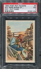 1953 Roy Rogers Pop-Out #05 Roy Sees Signs of Trouble PSA 7 NM Cert #20361038