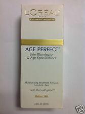 L'Oreal Age Perfect Skin Illuminator & Age Spot Diffuser For Mature Skin New.