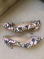 New JCrew Dulci Kitten Heels Shoes In Floral Burst $268 Size 7 E8214 Sold Out!