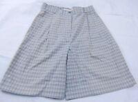 Alex Sterling Women's Vintage Plaid Pleated Hi-Waist Walking Shorts Size 6 USA