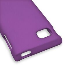 Purple Case For LG Optimus F3 MS659 Hard Rubberized Snap On Phone Cover
