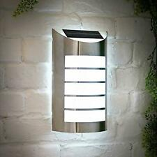 Solalite 36126SL Solar Powered Stainless Steel 2-in-1  Wall Light with PIR Sensor