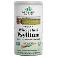 Organic India Whole Husk Psyllium 100gm Cannister Organic Dietary Fiber USDA