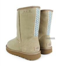 UGG Classic Short 40:40:40 Anniversary Sand Suede Fur Boots Womens Size 11 *NIB*
