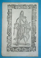 1598 Rare Original Arab Man Portrait Arabia Oman Bahrain Kuwait Qatar Emirates