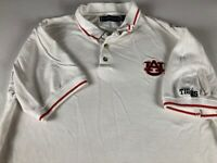 Auburn Tigers Polo Shirt Mens L/XL Student Alumni Graduate War Eagle Golf White