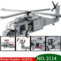 UH-60 Black Hawk Helicopter Custom Military Minifigures Building Block Toys