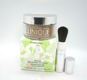 Clinique Blended Face Powder and Brush ~ 10 Transparency Bronze ~ 1.2oz /BNIB