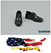 """❶❶1/6 Scale Shoes for 12"""" male Figure Black bike toe dress shoes SHIP FROM US❶❶"""