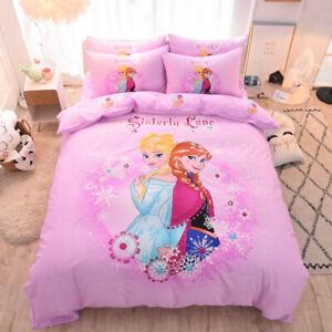 Frozen Sister Quilt Duvet Doona Covers Set Single/Queen Size Kid Bedding Cartoon